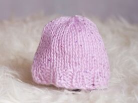 Lovely newborn handmade hats to suit 0-3 month olds