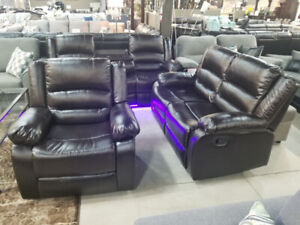 3 PC LED RECLINER SET FOR SALE $1099 ONLY...