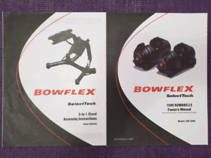 Bowflex SelectTech 1090 Adjustable Dumbbells Owner's Manual