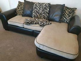 Designer leather fabric sofa set