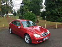 2003 Mercedes-Benz C180 Kompressor 1.8 SE 2 Door Coupe Red
