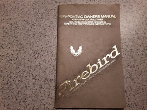 Owners manual for 79 Trans am