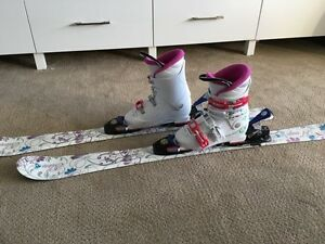 Girls skis and ski boots