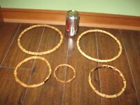RINGS FOR CRAFTS - WOOD / BAMBOO / TORTOISE SHELL, ETC.
