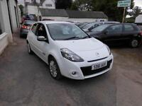 2011 RENAULT CLIO DYNAMIQUE TOMTOM 1.2 PETROL MANUAL IN WHITE HALF LEATHER