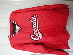 Steve and Barry's red fleece lined winter jacket hockey clothing London Ontario image 1