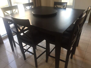 High-end Pub Style dining room table and chairs