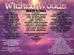 Wicked woods 1 ticket