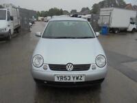 Volkswagen Lupo 1.4 S 3 DOOR - 2003 53-REG - FULL 12 MONTHS MOT