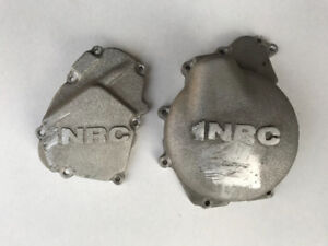 "2000 Yamaha R6 ""NRC"" and OEM crankcase side covers."