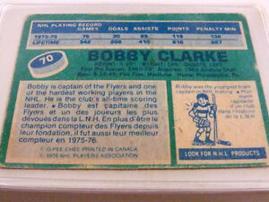 Bobby Clarke O-Pee Chee 1976 Center Flyers 1st Team All Star Car Kitchener / Waterloo Kitchener Area image 3