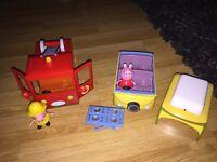 Peppa Pig Fire Engine and Camper Van