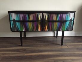 Upcycled spray painted sideboard/tv unit - UK delivery available