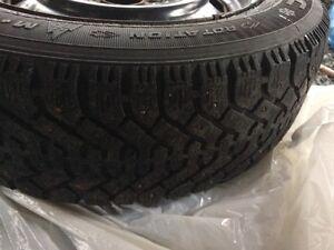 Goodyear winter tires on rims