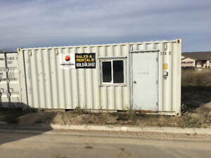 20' shipping container site office tool storage