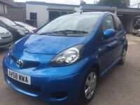 Toyota Aygo Blue 1.0 Petrol Full Service History 12 months MOT