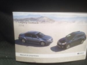 Subary Outback owners manual