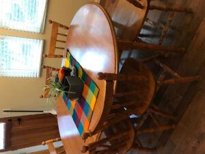 Maple dining room set