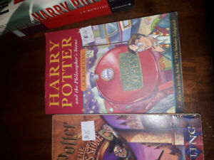 Harry Potter books hard, soft cover, US version and 1st editions