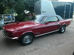 FORD MUSTANG GT 1968 red auto, 394HP 347 fuel injected