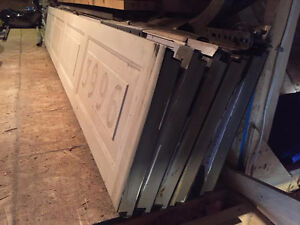 Garage Door with tracks and hardware 10' L x 7' H