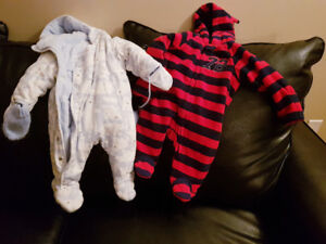 Selling 0-3 months  snow suits in excellent condition