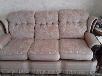 3 piece suite - 3 seater settee & 2 chaira