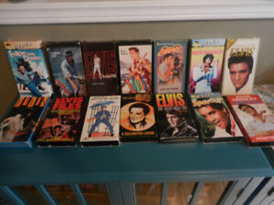 Elvis Presley Various Lot Cassettes,VHS,Key Chains New,License