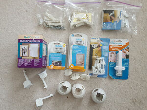 HUGE lot of baby safety items - drawer catches, outlet covers