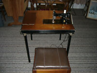 Vintage Singer Featherweight 221-1 Sewing machine with Table