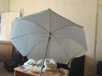 Beach Umbrella Parasol new/ never used small packaging