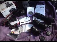 BOXED CANON 550D BUNDLE WITH 3 LENS, BAG, CHARGER, BATTERY, LEADS ETC, MASSIVE!!
