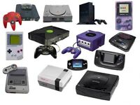 WANTED OLD SEGA,PLAYSTATION AND NINTENDO GAMES AND CONSOLES