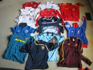 SOCCER JERSEYS AND FLAGS $20/EACH