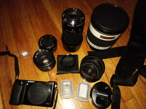 Sony A6000 Bundle!! Perfect combo!