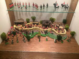 W Britain's Rorke's Drift 1879 Zulu War & Hospital set.