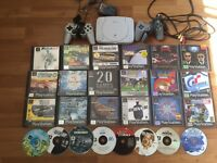 Sony Psone ps1 PlayStation console and games