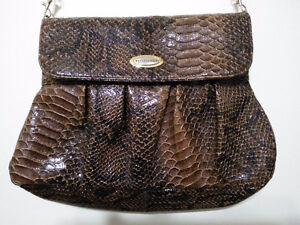 Snake Skin Print Handbag Clutch Never Used