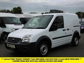 2012 FORD TRANSIT CONNECT T200 SWB DIESEL VAN WITH ONLY 31.000 MILES FROM NEW PA
