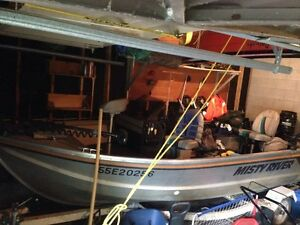 16' Misty River Aluminium Boat w/ 45 HP Mercury Outboard