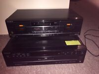 Sony 5 disk player and stereo cassette deck