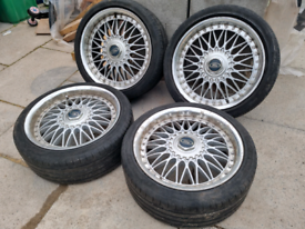 """18 """" BBS Multi fit 5x108 and 5x112 alloys with matching tyres"""