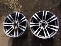 BMW X5 genuine 20 inch alloy wheels for sale * 2 only m sport