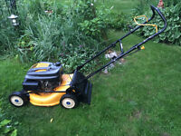 "CUB CADET Gas Lawnmower 19"" 4 CYCLE, EASY START, Nice cond.!"