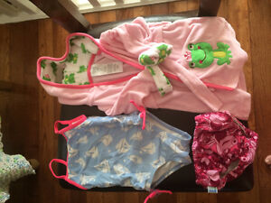 Baby girl swim lot