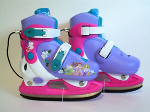 Disney Princess Adjustable Ice Skates - size J8-J11 - NEW