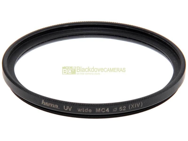 52mm. filtro UV HAMA wide MC4 M52. Ultra violet filter. Ultravioletto.