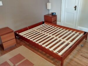 Queen Bed Frame (small footprint)