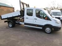2015 Ford Transit 33k 125 Bhp One Stop Tipper Double Crew Cab Dropside