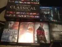 40 cd classical music plus bag of DVDs